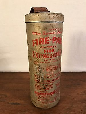 Vintage 1955 Fire-Pak Dry Chemical Fire Extinguisher (HD7)