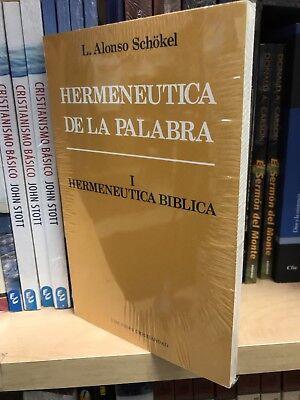 Hermenutica De La Palabra Tomo 1 Hermenuutica L.alonso Schokel