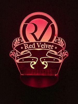 RED VELVET KPOP 3D COLOR CHANGING LED NIGHT LIGHT