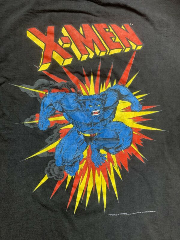 "Vintage 1993 Marvel Mutant Gear ""Beast"" T-Shirt - Youth Large Black"