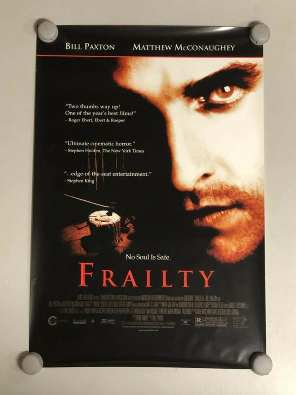 "Frailty Original Rolled 40"" X 27"" One Sheet Full Size Movie Poster McConaughey"