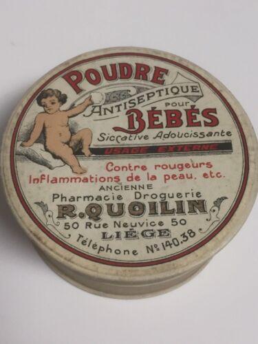French Baby Powder Box ~ Antiseptique Poudre pour Bebes- Liege, Belgium  ~ CS29