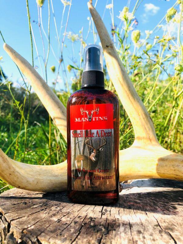 Mastins Deer Scents -Smell Like a Deer- 4 OZ Spray bottle- calming cover scent
