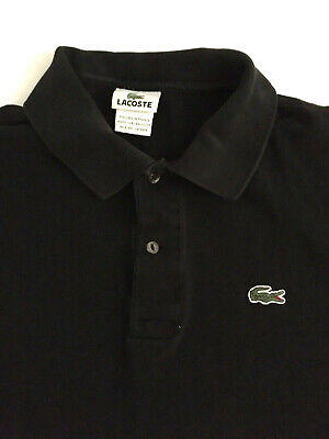 Lacoste Polo Shirt Alligator Croc Logo Classic Fit Gray Size 7- XL Short Sleeve