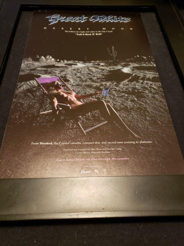 Great White Desert Moon Rare Radio Promo Poster Ad Framed!