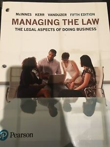 Managing the Law : Legal aspects of doing business