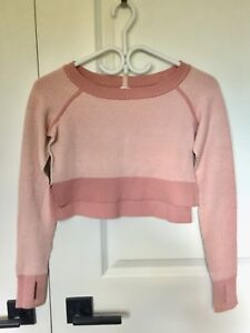 Ivivva cropped LS sweater. Size 8.