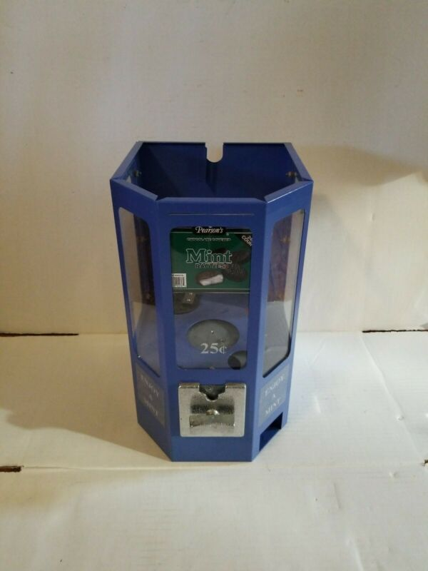 Mint Candy Vending Machine Retro Coin-Op Dispenser 25 Cent FOR PARTS OR REPAIR