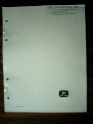 Jd John Deere Model 50 Series Parts Manual