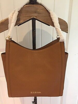 Michael Kors Newbury Medium Chain Shoulder Tote Acorn Brown NWT