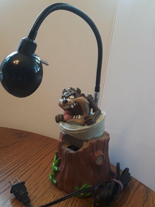 Vintage 1997 Tasmanian Devil Desk Lamp Bendable Warner Bros Looney Tunes RARE