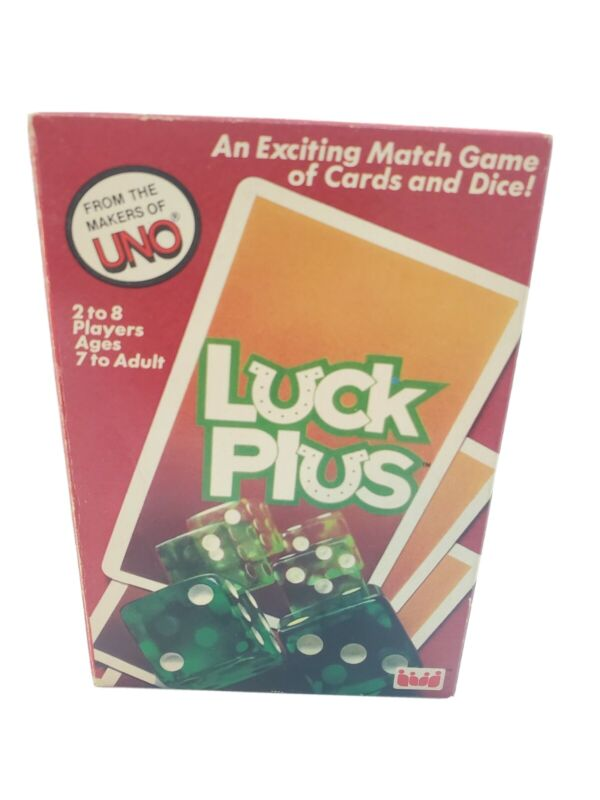Vintage Luck Plus Card and Dice Game 1983 Makers of UNO Complete