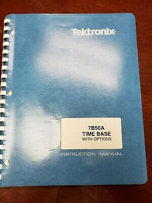 Vintage Tektronix Instruction Manual Type 7b50 Time Base With Options