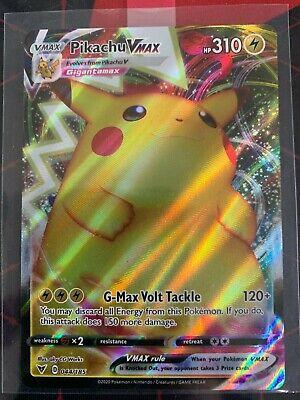 Pokemon Pikachu VMAX 044/185 Vivid Voltage Full Art Ultra Rare Holo Foil MINT