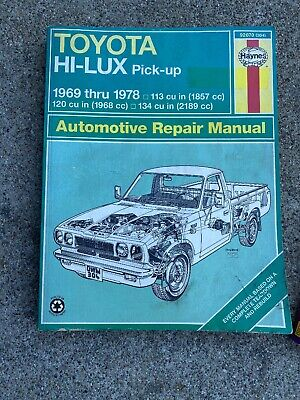 Haynes Automotive Repair Manual Toyota Hi-Lux 1969-1978 92070 (304)