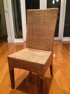 Dining chairs - Rattan x 8