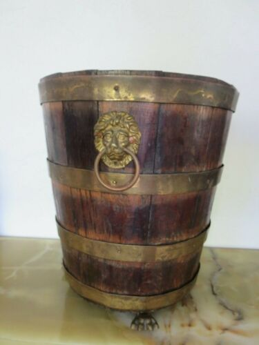 Antique Wood and Brass Bucket George III period