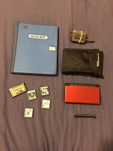 Nitendo DS with case and games!