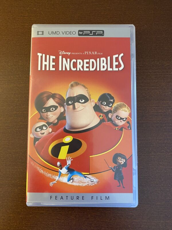 The Incredibles PlayStation Portable PSP UMD Video Disney Pixar Feature Film