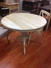 Round timber pedestal dining table French provincial elm oak Allambie Heights Manly Area Preview