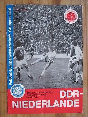 Pr135 PROGRAMM Länderspiel DDR - NIEDERLANDE 1979 Sport Fußball Oberliga DFV DFB