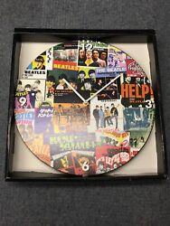 Vandor The Beatles 13.5-Inch Cordless Wall Clock, Collage