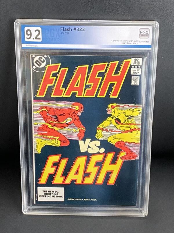 FLASH 323 PGX 9.2 (DC 1983) Flash vs Flash! Infantino cover LIKE CGC CBCS NM- WP