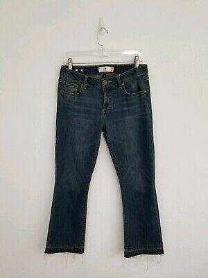 CABI Women's Kick It Crop Jeans Deconstructed Raw Hem Size 4 Excellent! for sale  Santa Ana