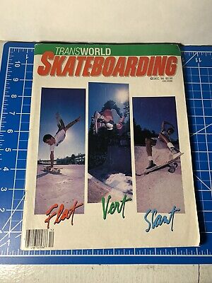 Transworld Skateboarding Magazine Dec 1985 Good Co & Thrasher With Missing Cover