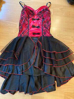 burlesque Red/black Corset Dress Size S