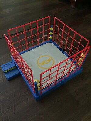 WCW Wrestling Ring With Cage 1994 San Francisco Toymakers WWE WWF AEW