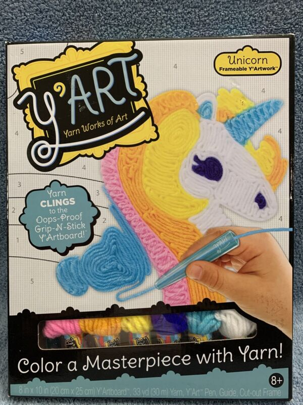 Y'ART Yarn Works Of Art Craft Kit Colorful Unicorn Ages 8+ NEW