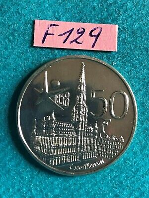 Belgique - Baudouin : 50 francs 1958FL en argent