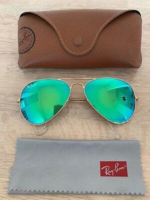 Ray-Ban Sonnenbrille Aviator RB 3025 verspiegelt, Farbe Gold, WIE NEU!!