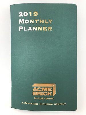 Berkshire Hathaway Acme Brick 2019 Monthly Planner Calendar Warren Buffett