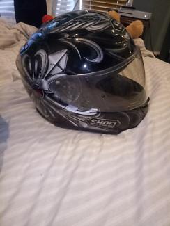 Shoei helmet and jacket