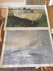 Two numbered and signed al chaddock prints