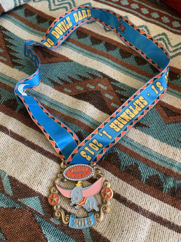2013 Inaugural Dumbo Double Dare Disney Disneyland  Marathon Running Race Medal