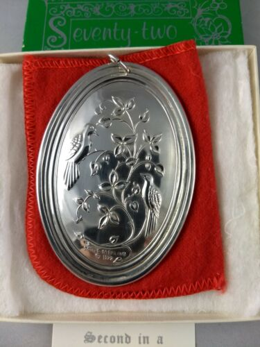 Towle 1972 Twelve Days Sterling Silver Christmas Ornament New w/Box, Brochure