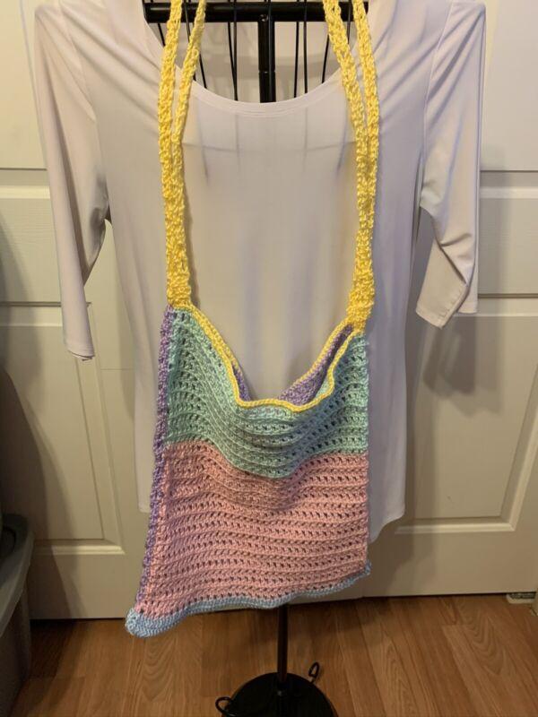 Handmade Crochet Market Bag Beach Bag