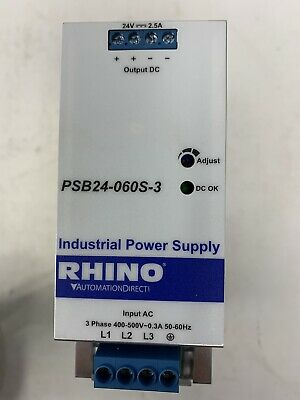 Automation Direct Rhino Psb24 0605 3 400-500v Input 24v Output Power Supply