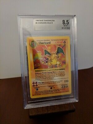1999 Charizard Shadowless Base Set - BGS 8.5 (PSA 9) - 4/102 Pokemon TCG WOTC