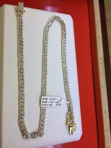 10k diamond Cuban link