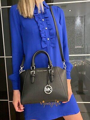 Michael Kors Ciara Medium Messenger Saffiano Leather Bag Black