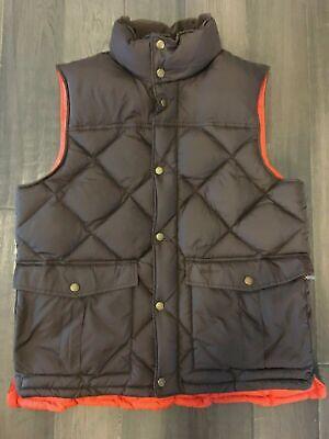 Barbour Brown Full Zip Vest Down Explorer Gilet Puffer 100% Polyamide Size L