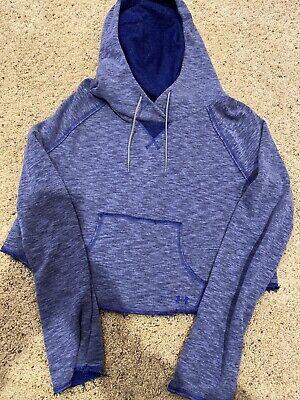 Womens Under Armour blue Medium M hoodie sweatshirt LOGO