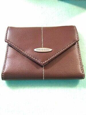 Vintage Rolodex Business Card Leather Holder