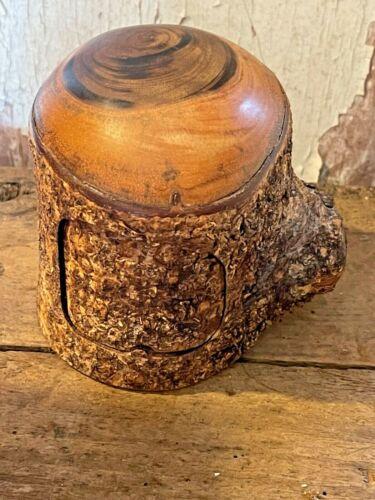 Signed  Carved PUZZLE BOX Burl Wood ?  Secret Hidden Compartments Trinket Box