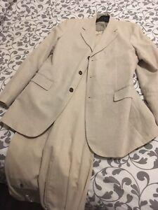 linen suit jacket and pants NEW