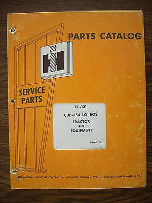 Ih Farmall Mccormick International Cub 154 Lo Boy And Equipment Parts Manual